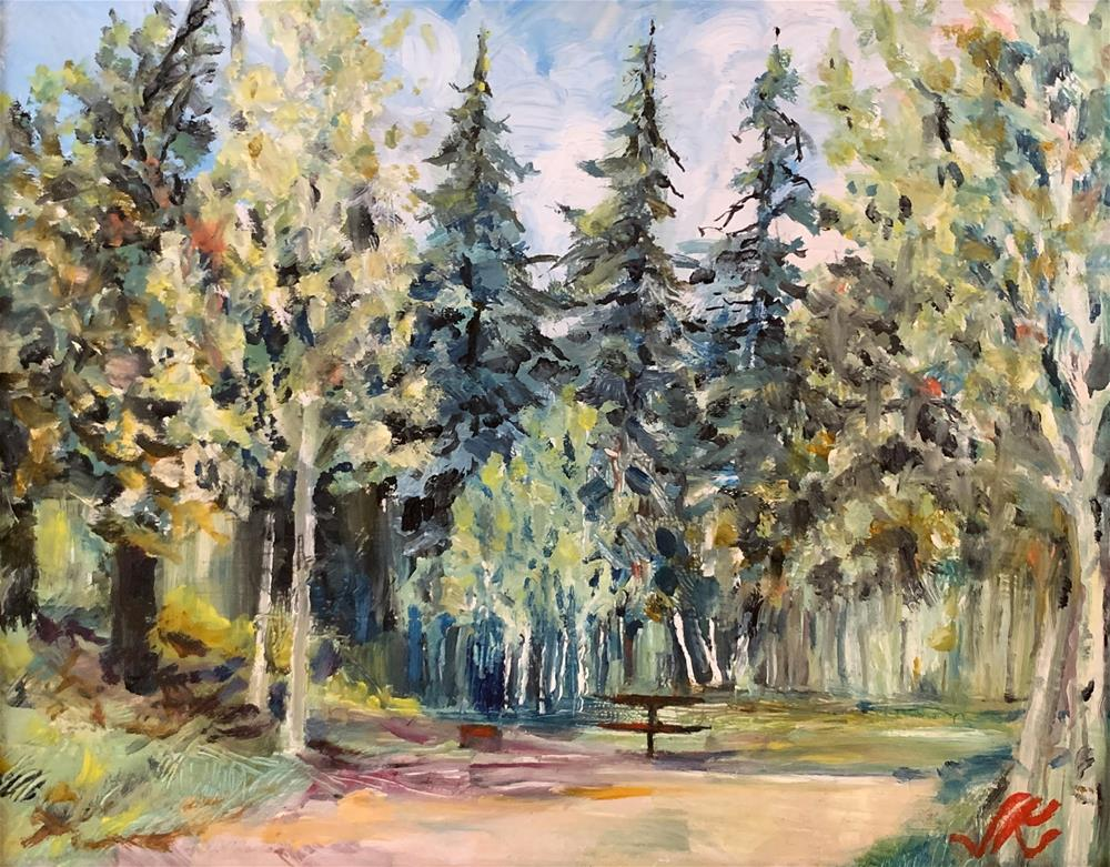 """Alvarado Camp Ground"" original fine art by Jean Krueger"