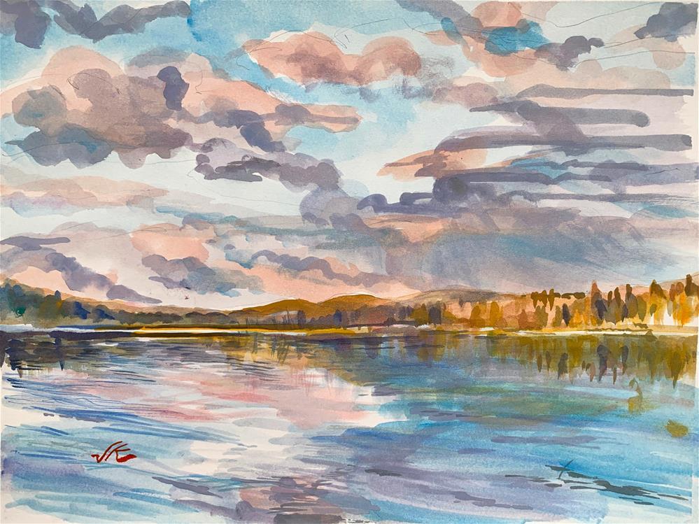 """Lake Adirondak, NY"" original fine art by Jean Krueger"