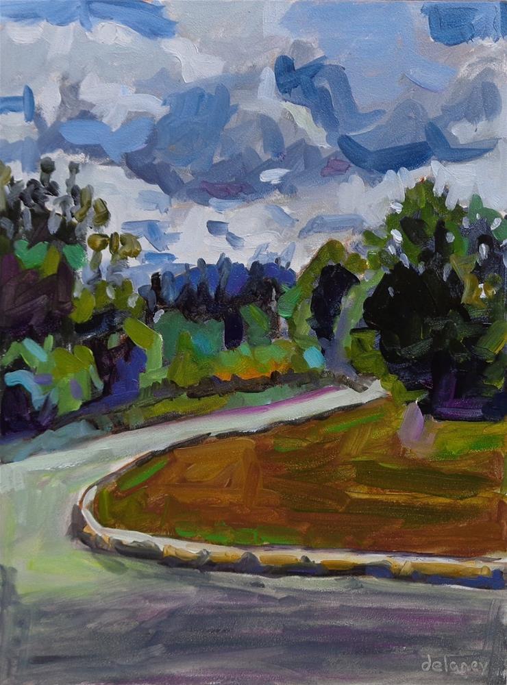 """""""FERN ROAD"""" original fine art by Jean Delaney"""
