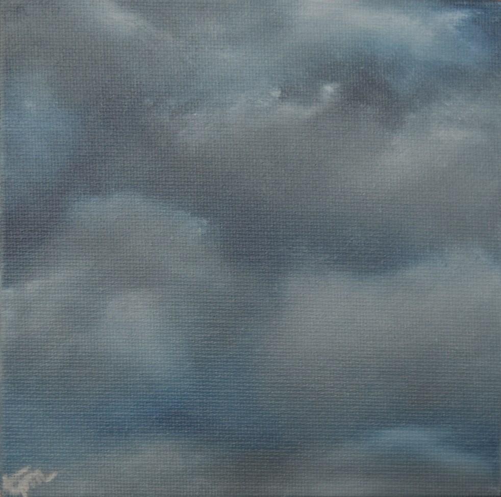"""Stormy Nighttime Clouds"" original fine art by Tisha Mark"