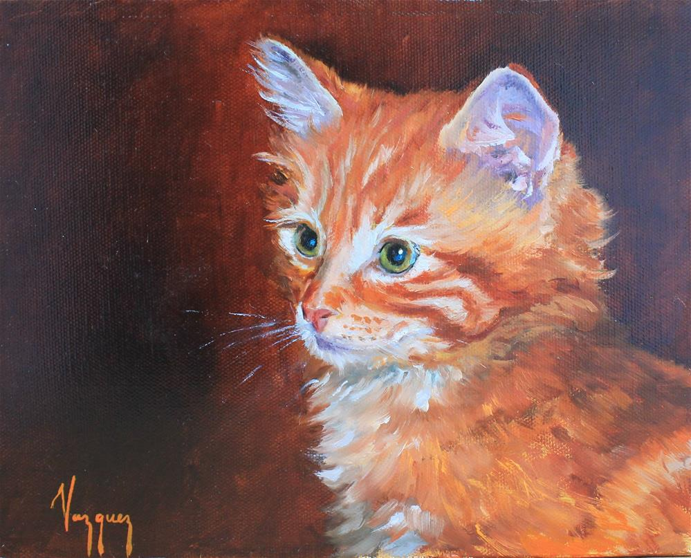 """Kitty cat"" original fine art by Marco Vazquez"