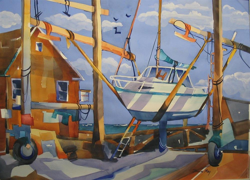 """Boat Sling, Rockland , ME"" original fine art by Jinnie May"