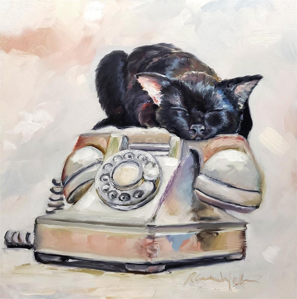 """""""On Call"""" original fine art by Karen Weber"""