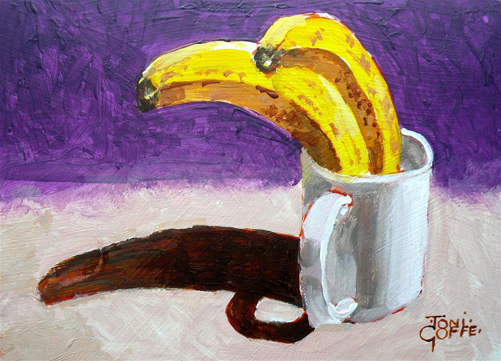 """Banana Friends "" original fine art by Toni Goffe"