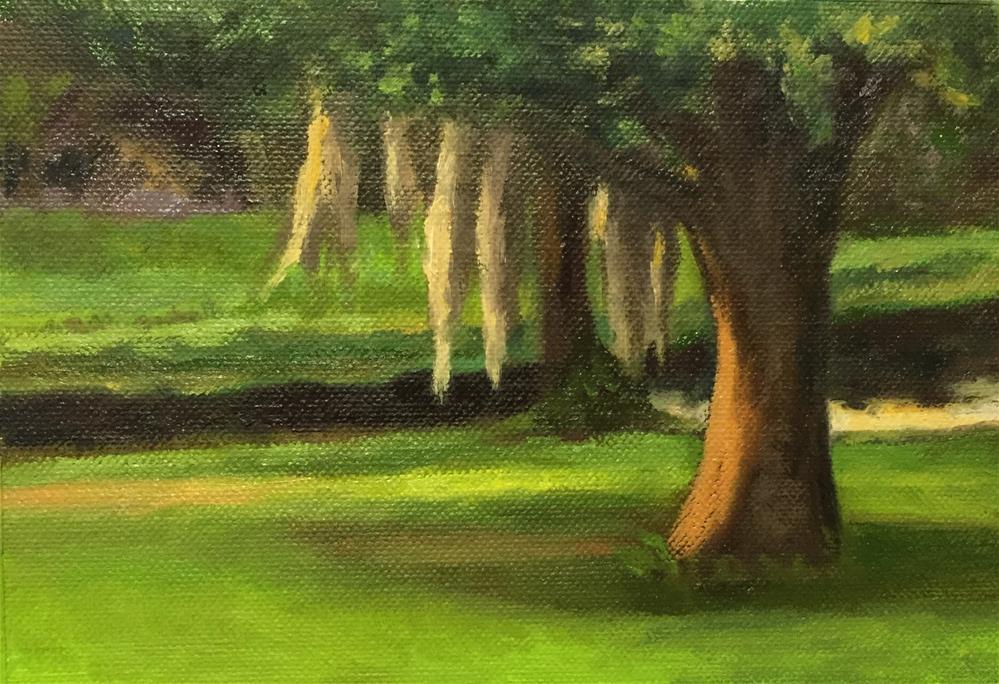 """""""Backyard View"""" original fine art by Cheryl Meehan"""