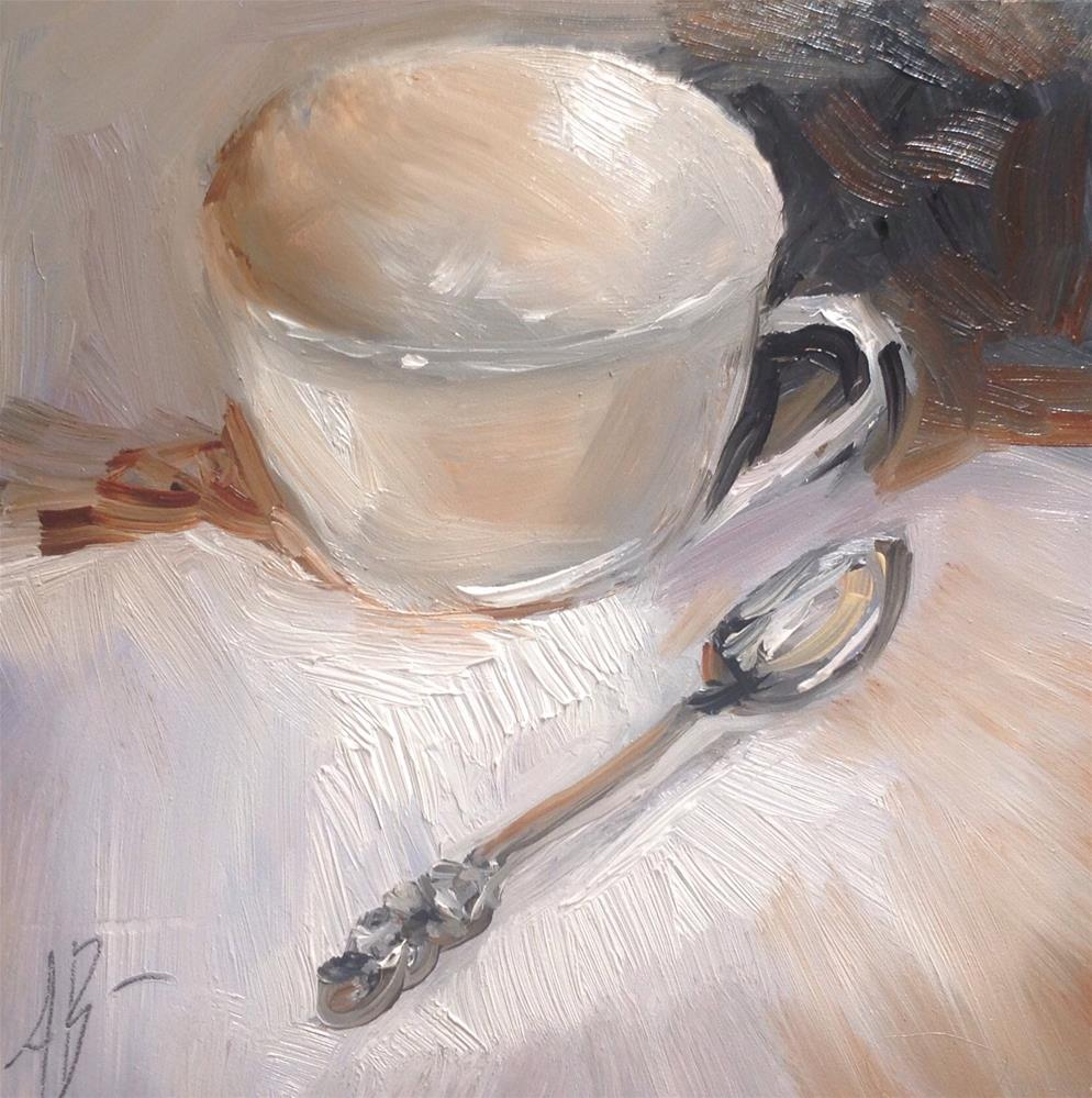 """Plain White Cup"" original fine art by Annette Balesteri"