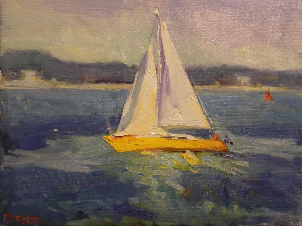 """The Lone Sailor"" original fine art by Rita Brace"