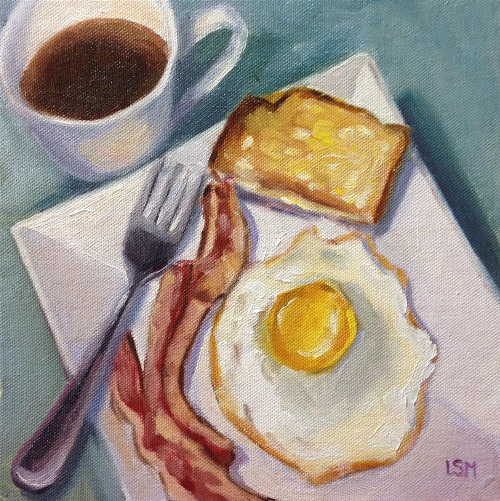 """Sunnyside Up with a Side of Bacon"" original fine art by Linda Marino"