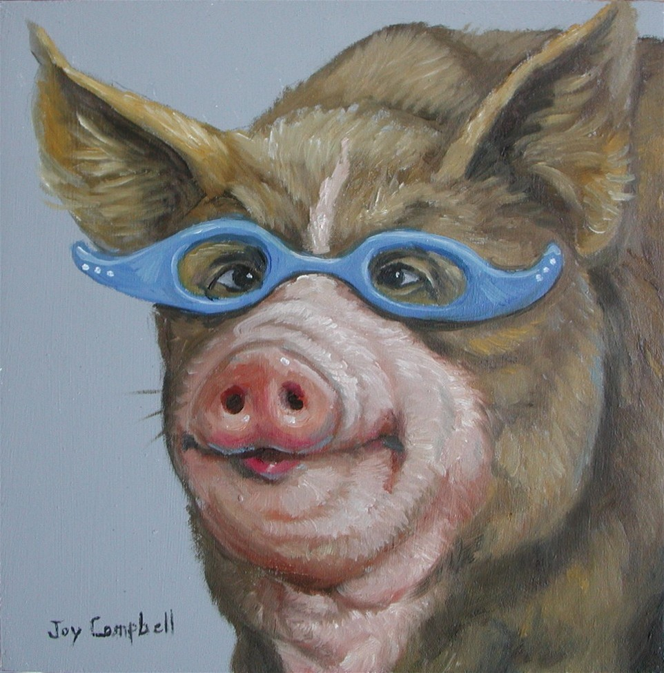 """""""The Librarian"""" original fine art by Joy Campbell"""