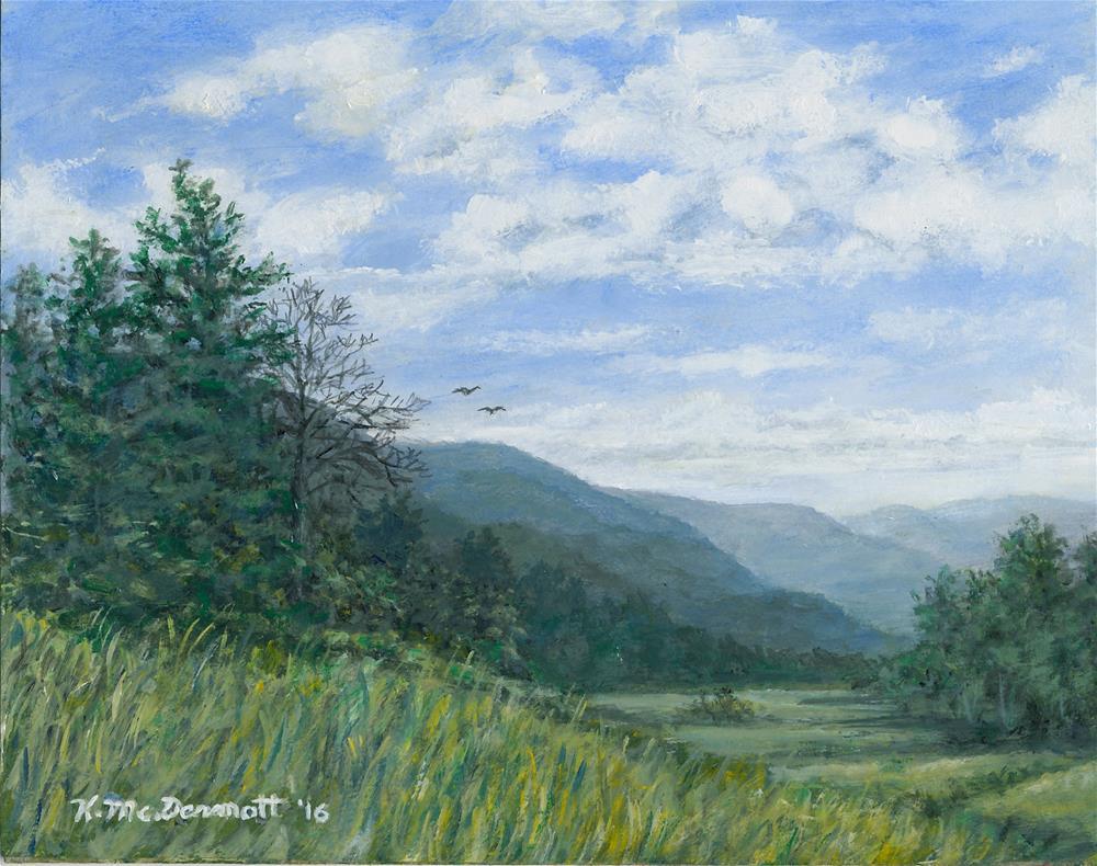 """""""Valley View (C) 2016 by K. McDermott"""" original fine art by Kathleen McDermott"""