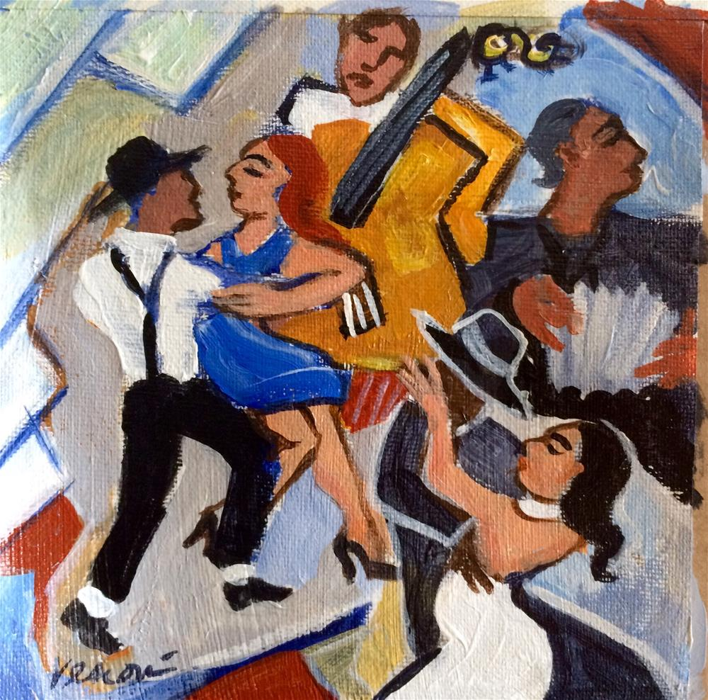 """The Tango"" original fine art by Valerie Vescovi"