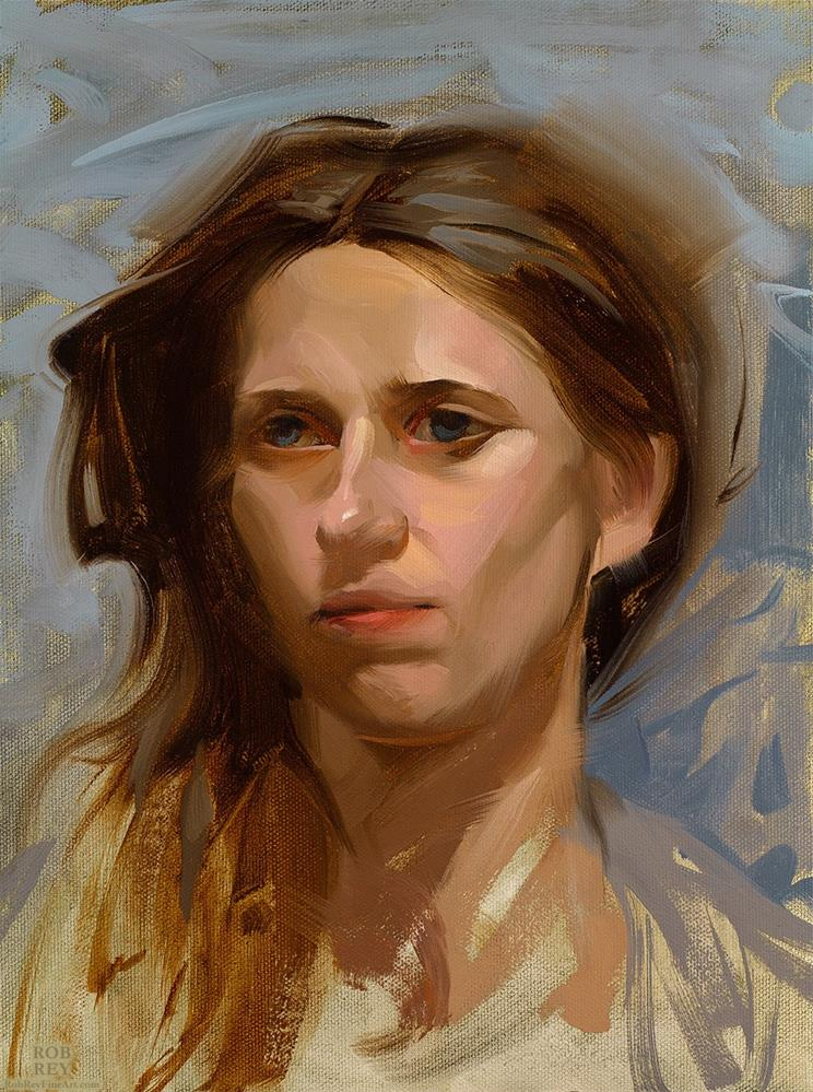 """Windswept"" original fine art by Rob  Rey"