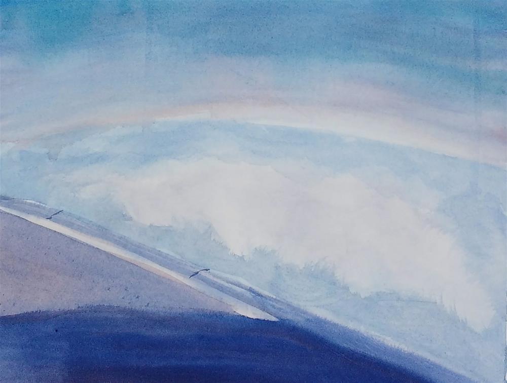"""40,000 Feet: Sky Painting II"" original fine art by Maria Peagler"