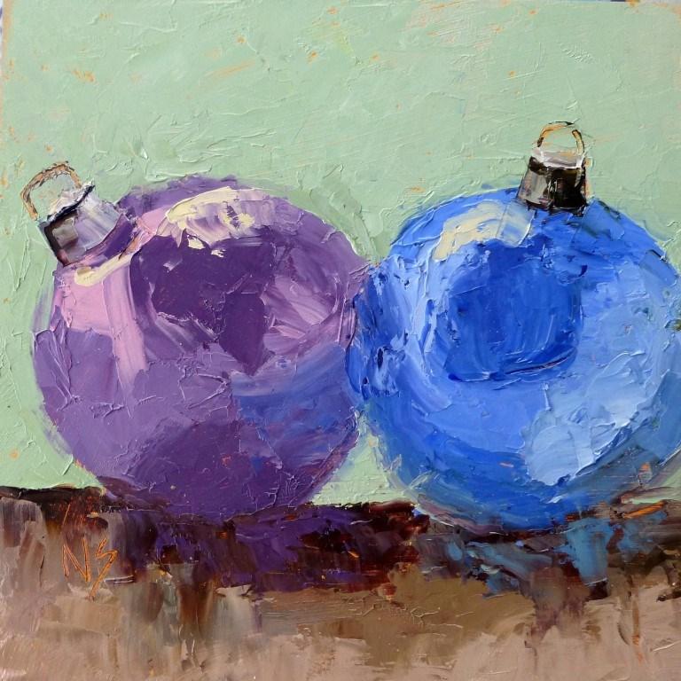"""Christmas Balls 14078"" original fine art by Nancy Standlee"
