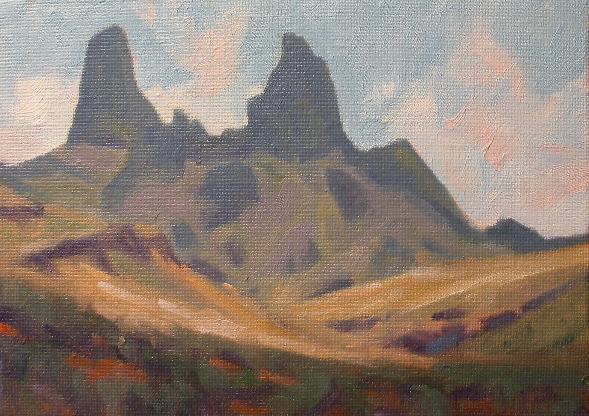 """""""Daily Painting by David Forks 3.5 Miles to the Mulies"""" original fine art by David Forks"""
