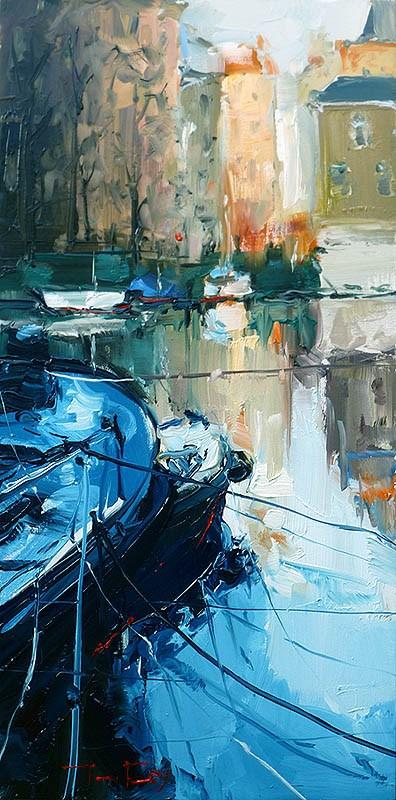 """Grachten"" original fine art by Jurij Frey"
