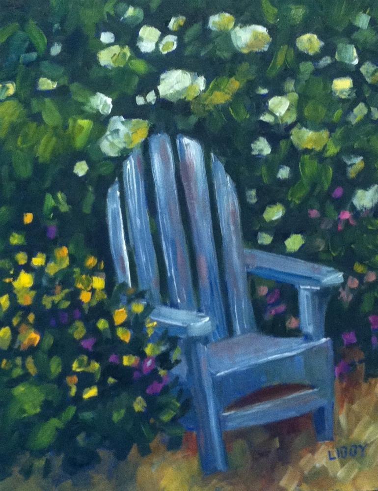 """Backyard Haven"" original fine art by Libby Anderson"