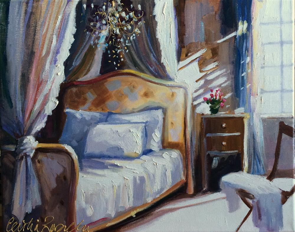 """SLAAPKAMER"" original fine art by Cecilia Rosslee"