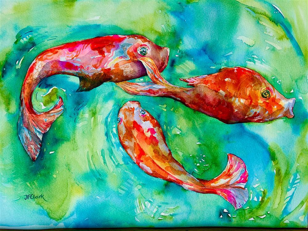 """Cool Koi"" original fine art by Judith Freeman Clark"