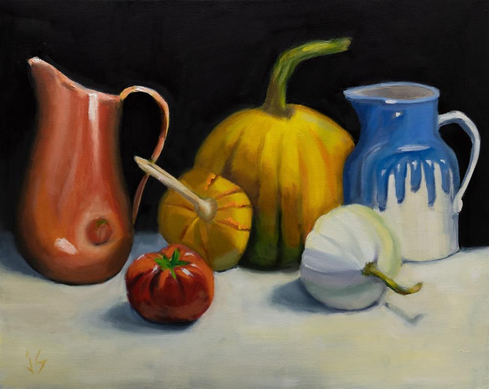 """""""Pumpkin Party (16x20)"""" original fine art by Johnna Schelling"""