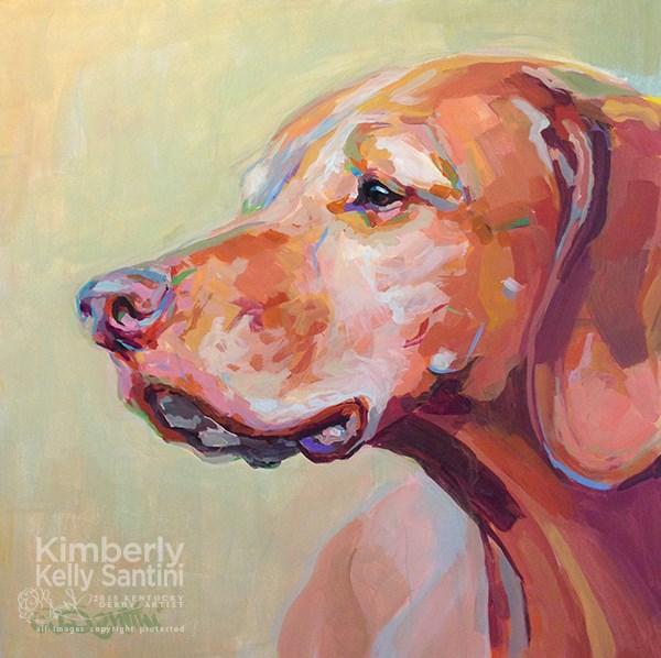 """Holly's Heart Dog, Bela"" original fine art by Kimberly Santini"