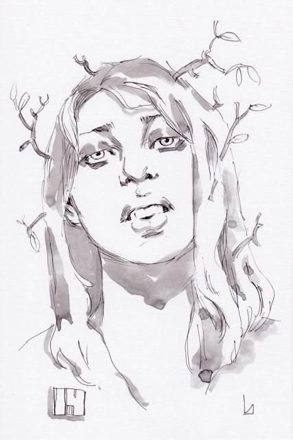 """Inktober Day 14"" original fine art by John Larriva"