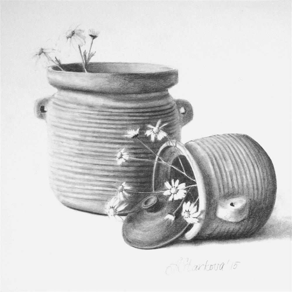 """Pots of luck II"" original fine art by Anna Starkova"