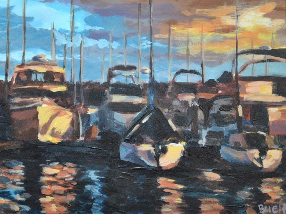 """Autumn in the Marina"" original fine art by Shari Buelt"
