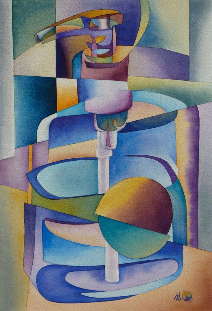 """Cubist Dispenser"" original fine art by Mark Allison"