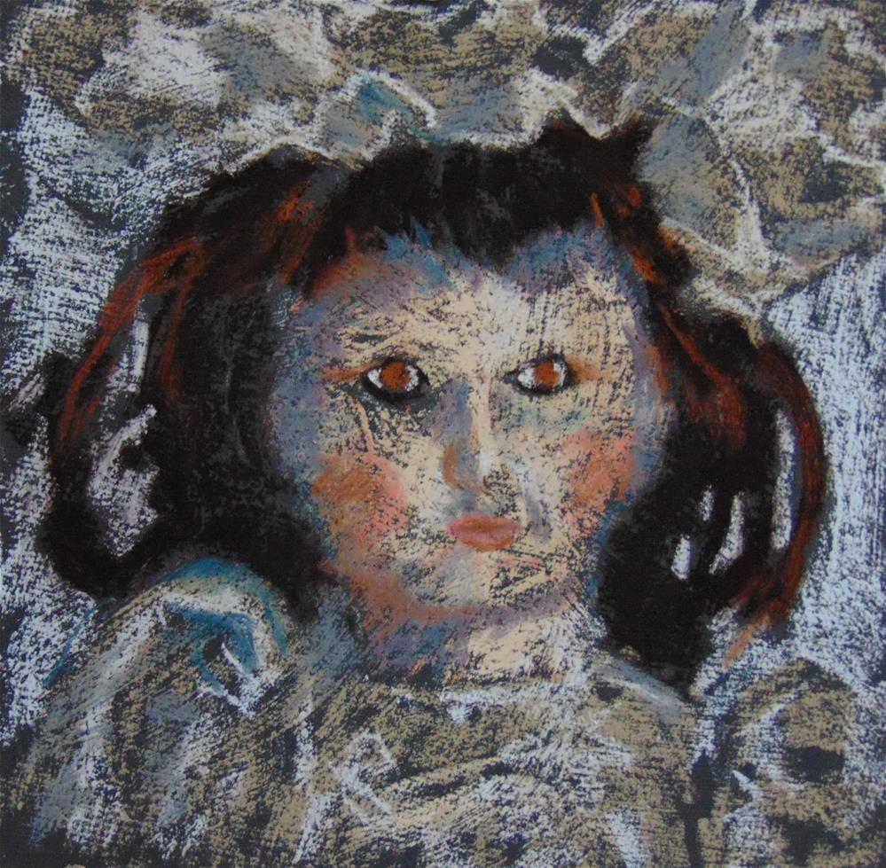 """Creepy Doll"" original fine art by Catherine Kauffman"