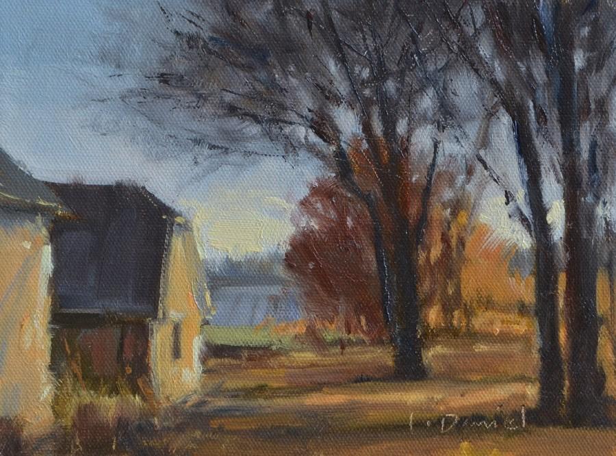 """Winter Light"" original fine art by Laurel Daniel"