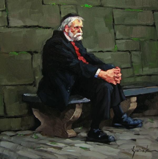"""""""Mensch"""" original fine art by Karin Jurick"""