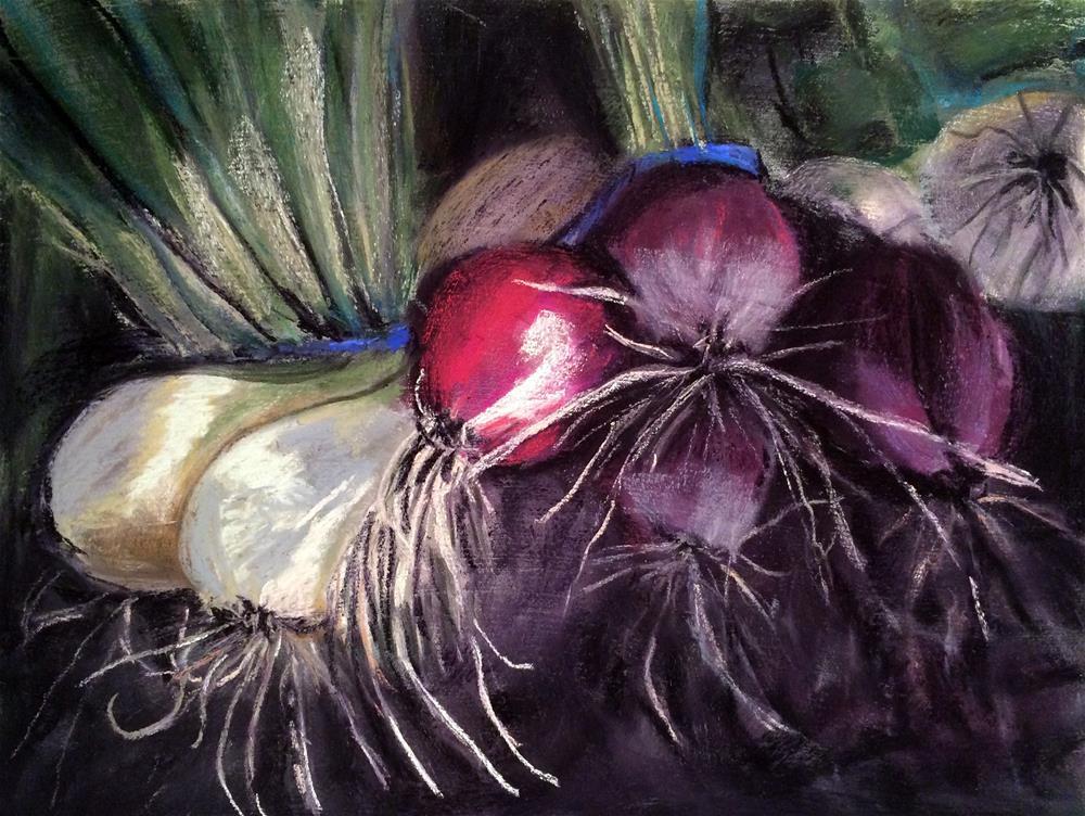 """Fun with Onions"" original fine art by Cristine Kossow"