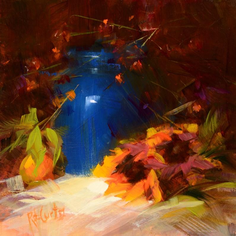 """Blue Jar"" original fine art by Rita Curtis"