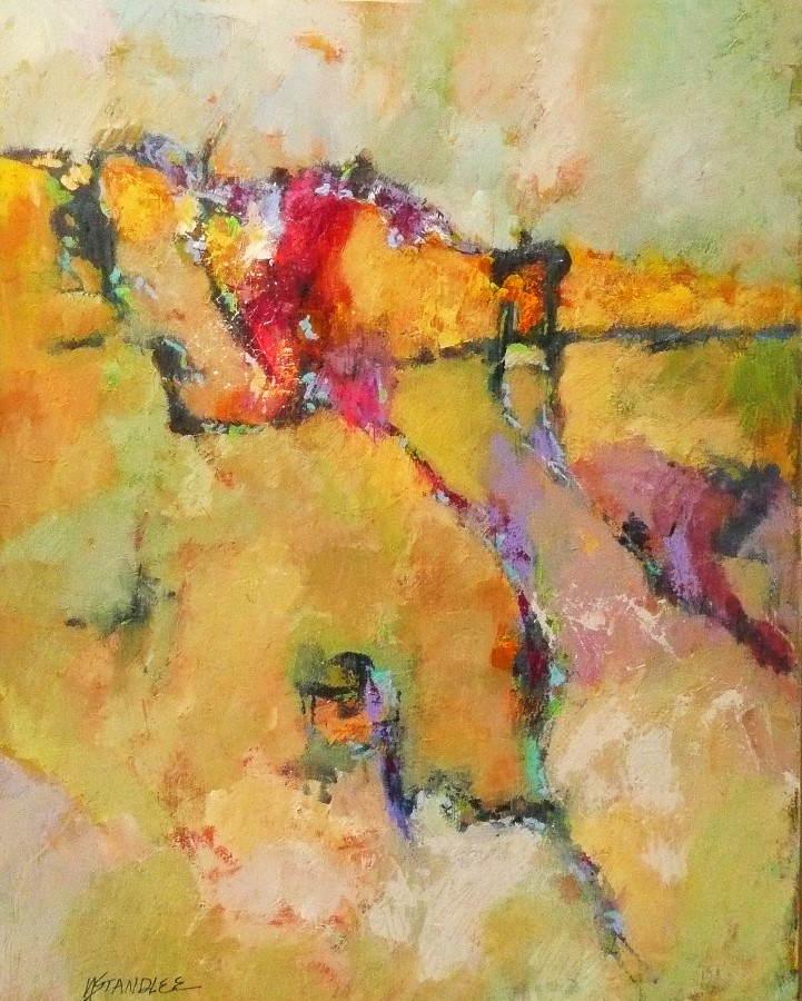 """County Contours 11055"" original fine art by Nancy Standlee"