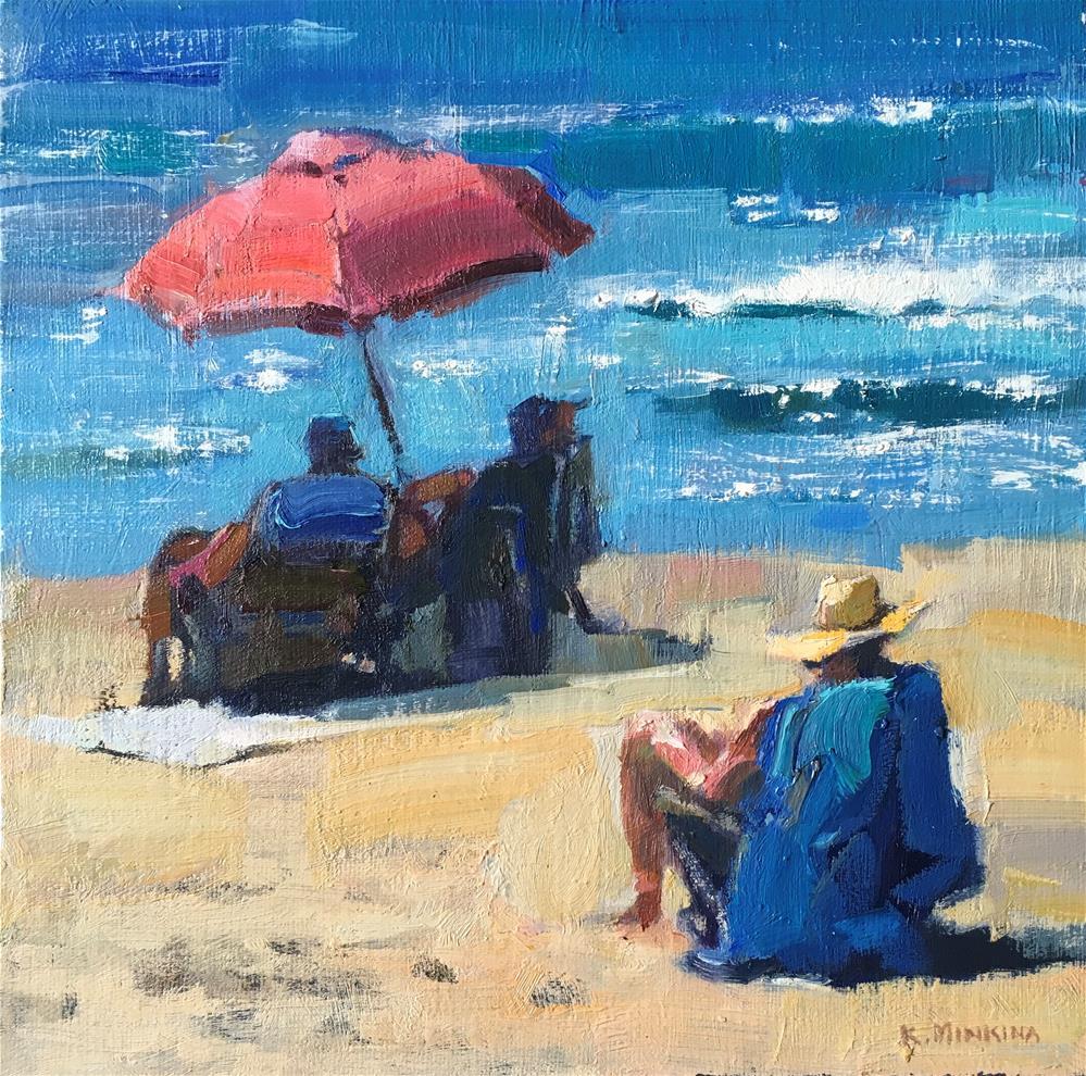"""Hanalei-beach#1"" original fine art by Katya Minkina"