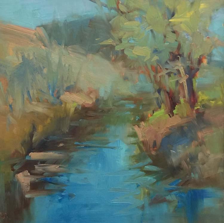 """Pass Creek Plein Air"" original fine art by Patti McNutt"