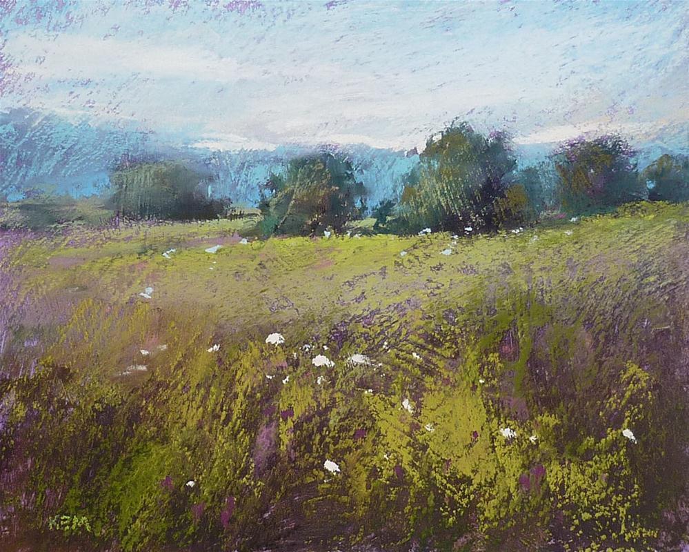 """""""Pastel Demo...Landscape on Homemade Surface"""" original fine art by Karen Margulis"""