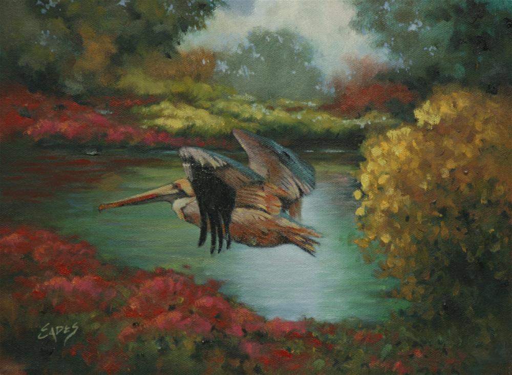 """""""Fly By"""" original fine art by Linda Eades Blackburn"""