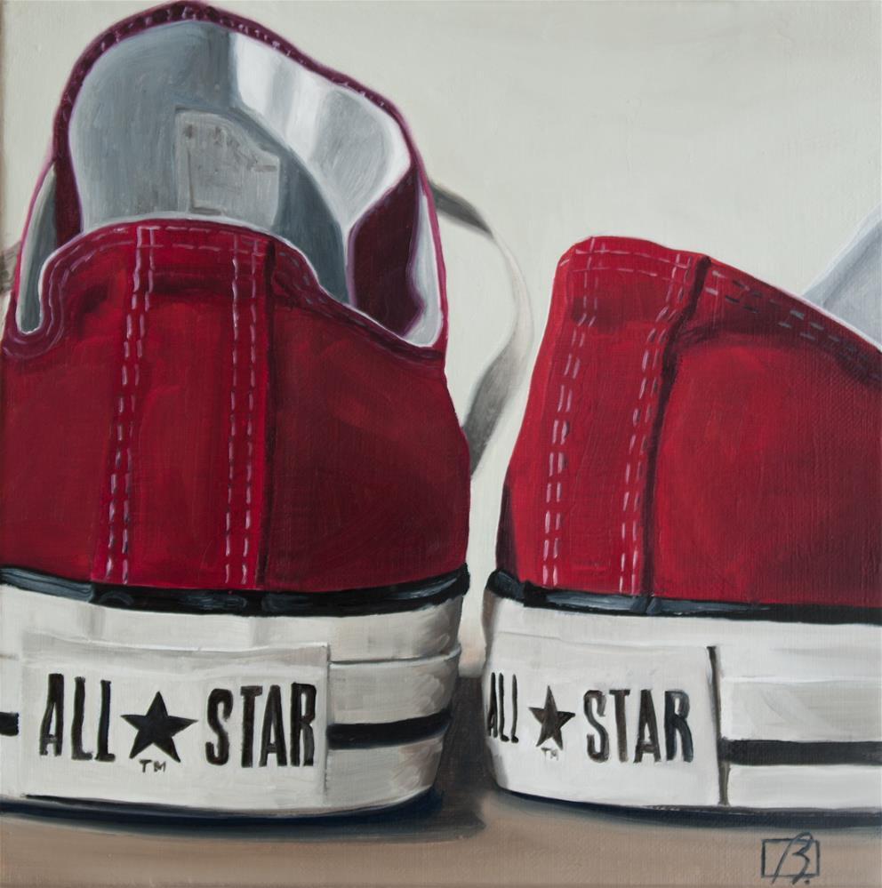 """Red Wine Converse"" original fine art by Andre Beaulieu"