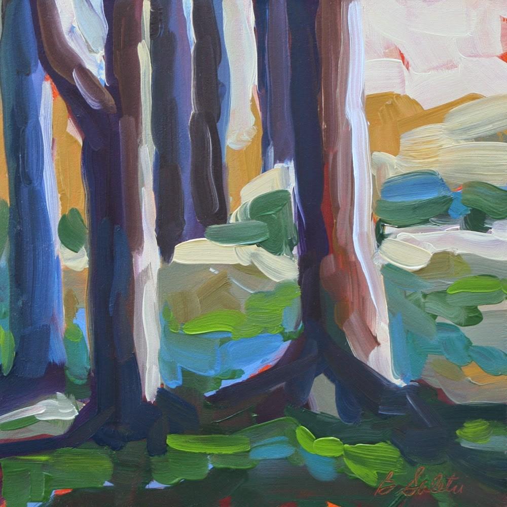 """Edge of Forest"" original fine art by Barb Saletri"