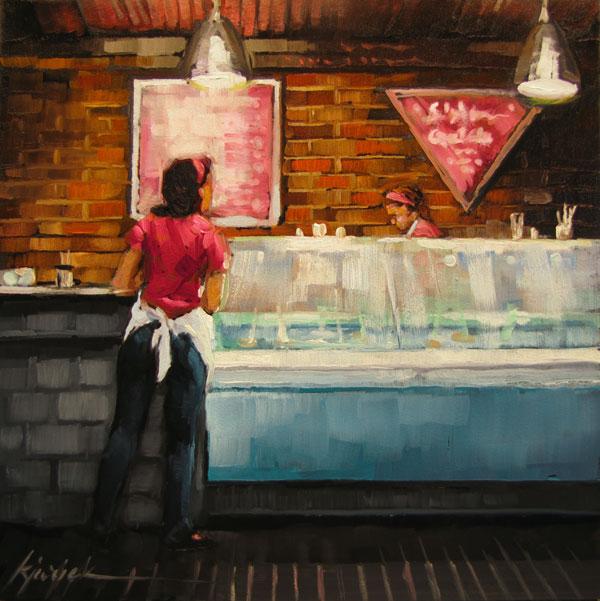 """""""Calorie Counter"""" original fine art by Karin Jurick"""