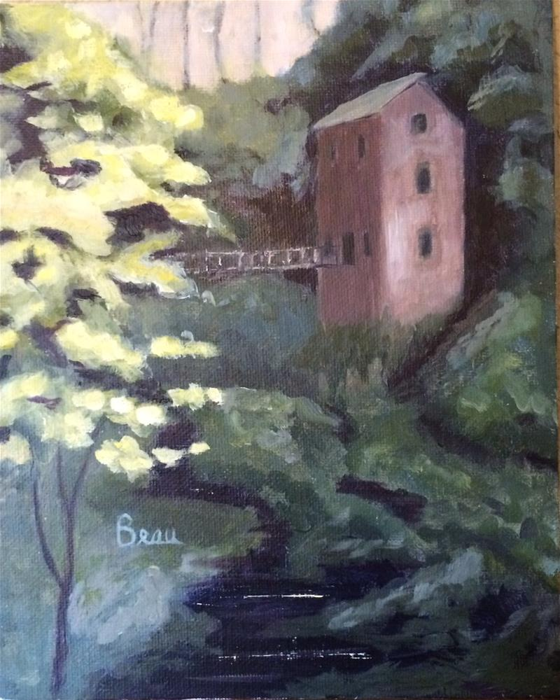 """""""Old Mill by the Stream"""" original fine art by Beau Crump"""