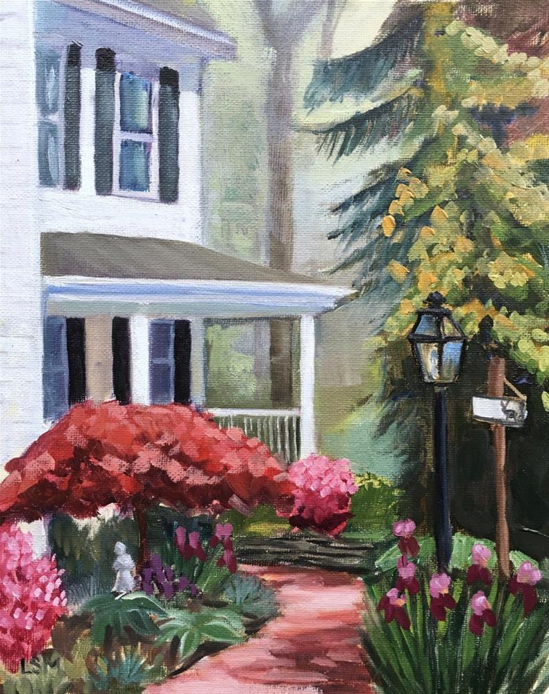 """Spring at Hollie's House"" original fine art by Linda Marino"