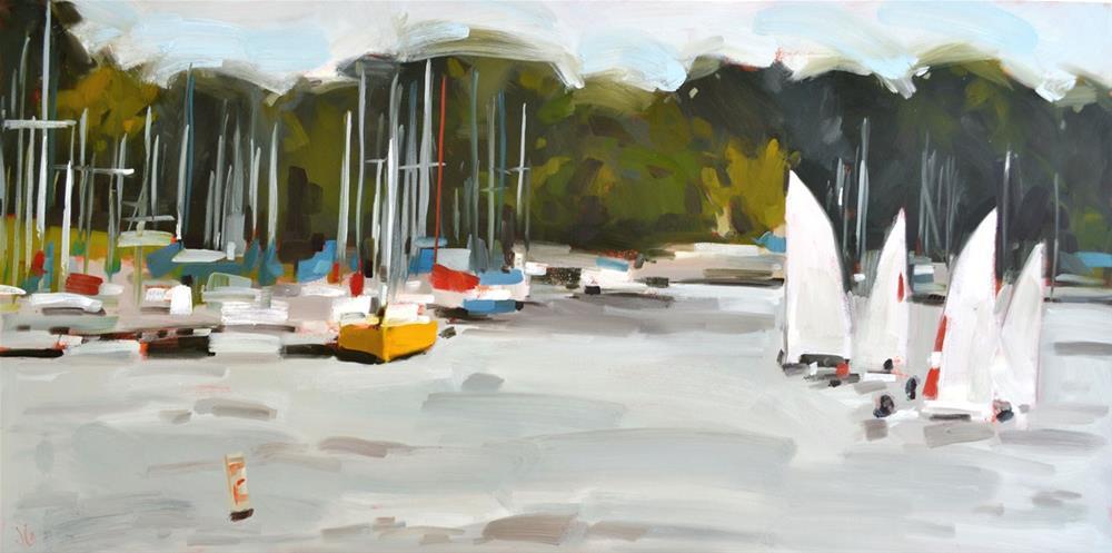 """Sailing Lessons"" original fine art by Jessica Green"