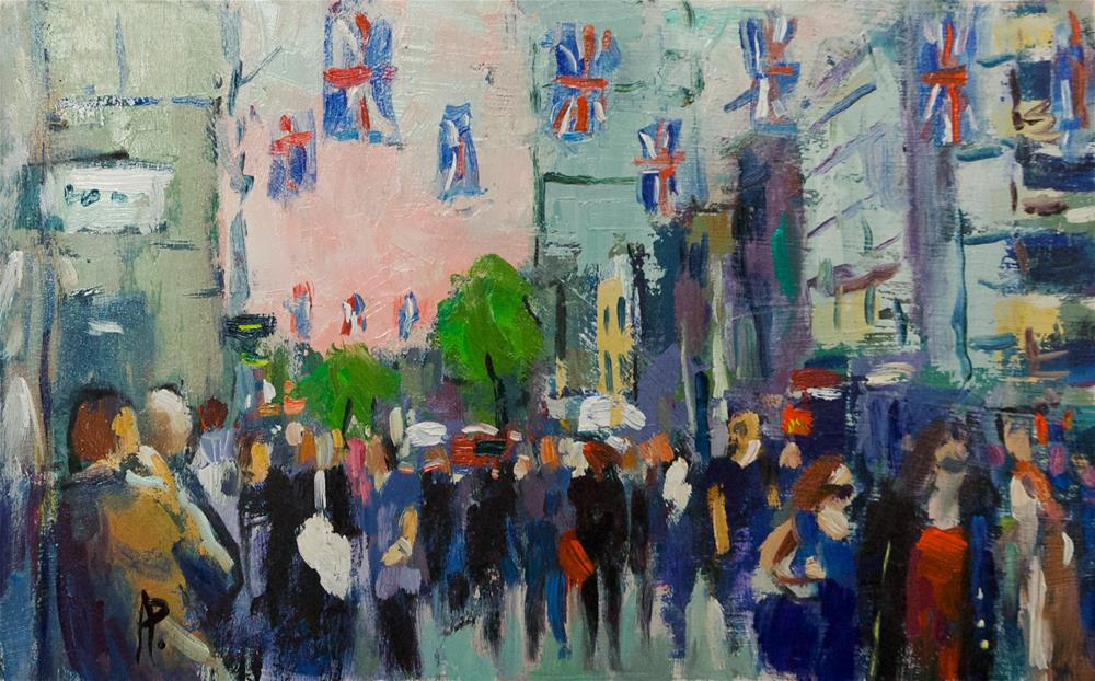 """""""Flags in Oxford Street"""" original fine art by Andre Pallat"""