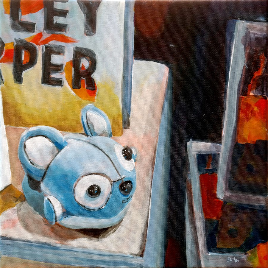 """1044 Blue Mouse"" original fine art by Dietmar Stiller"