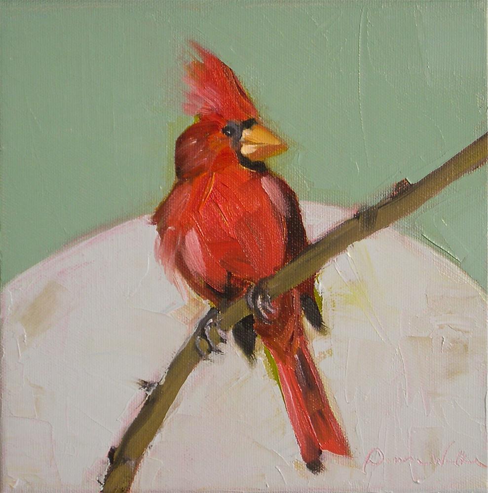 """""""Cardinal"""" original fine art by Donna Walker"""