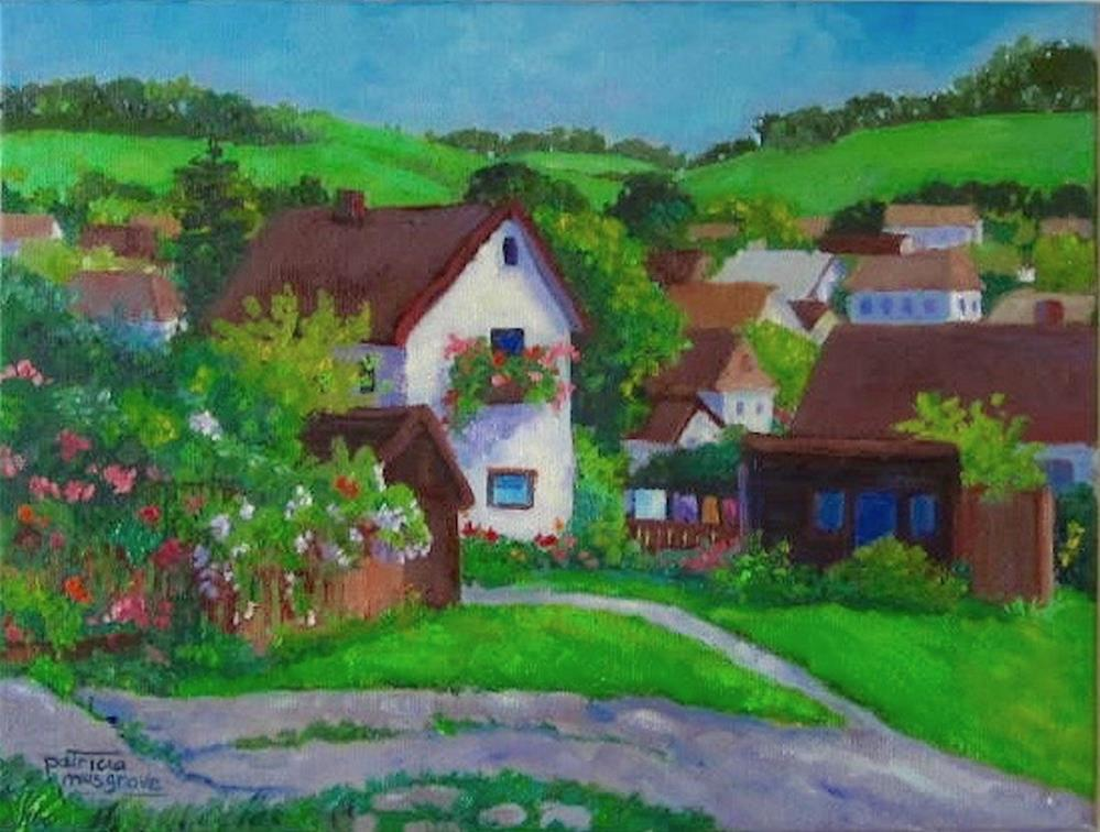 """Cesky Houses, Cesky Krumlov"" original fine art by Patricia Musgrave"