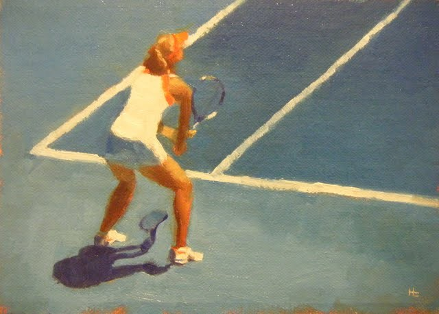 """AUSTRALIAN TENNIS OPEN - 1"" original fine art by Helen Cooper"